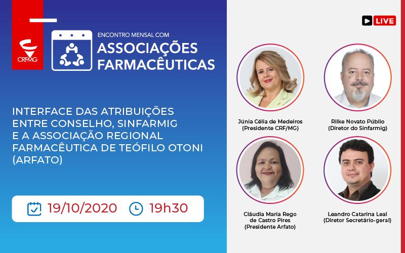 Associação Farmacêutica de Teófilo Otoni é a convidada para o encontro mensal com o CRF/MG e Sinfarmig